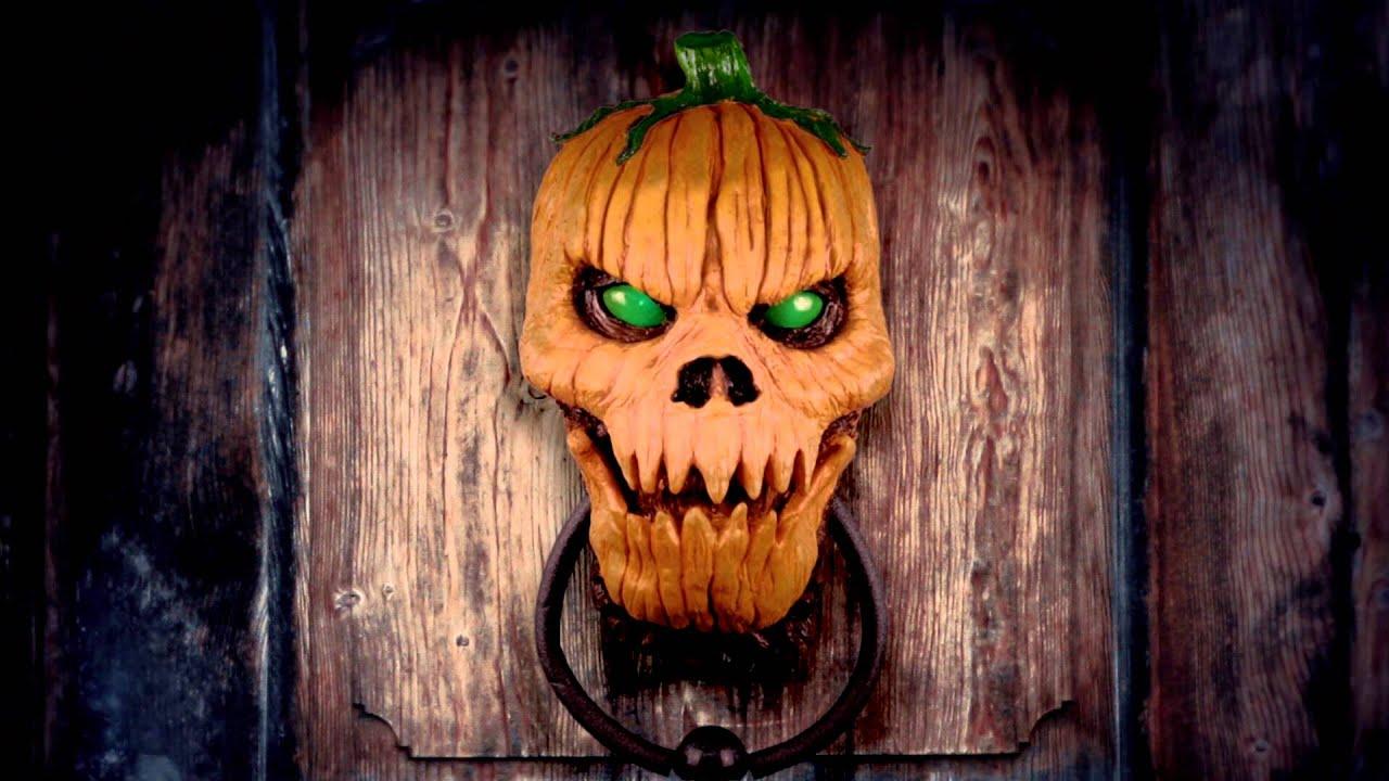 Pumpkin Door Knocker  YouTube ~ 003642_Halloween Door Knocker