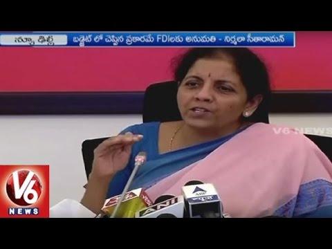 Union Minister Nirmala Sitharaman Speaks On FDI Reforms | V6 News