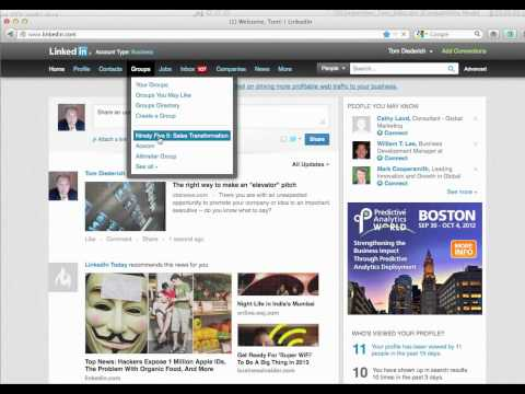 How to share on LinkedIN (blog posts, news articles, URLs)