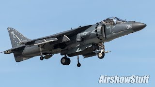 AV-8B Harrier Demonstration Practice - Yuma Airshow 2019