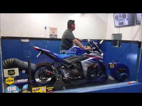 Yamaha YZF R25 ApiTech ECU & Akrapovic Bomb Dyno Tuning - Motodynamics Technology Malaysia