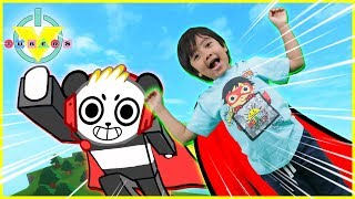 Roblox Doom Wall 2 Flying over LAVA ! Let's Play with Ryan vs  Combo