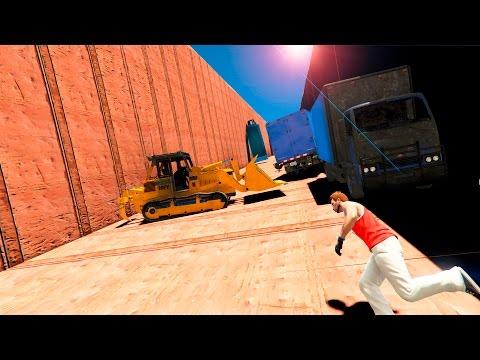 БУЛЬДОЗЕРЫ ПРОТИВ БЕГУНОВ СМЕРТЕЛЬНАЯ ЛАВИНА (GTA 5 Смешные моменты)
