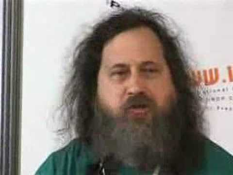 Richard Stallman, Father of the Gnu & all that is Linux pt1