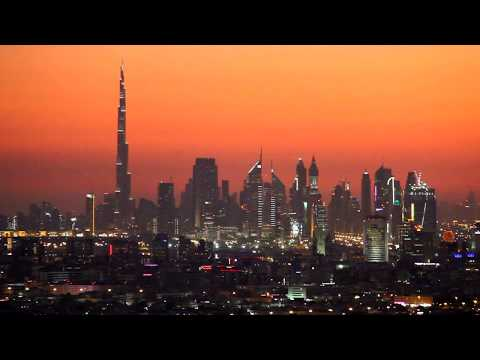 Dubai Skyline At Sunset 15-12-2011 by Hussein Kefel