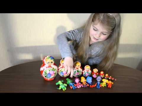 Матрешка и Фиксики. Матрешки с сюрпризом - Fixiki. Fixiki surprise blind Matreshka toys. Unboxing.