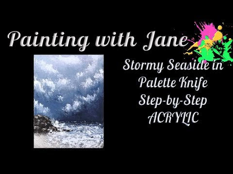 Palette Knife Seascape Step by Step Acrylic Painting on Canvas for Beginners
