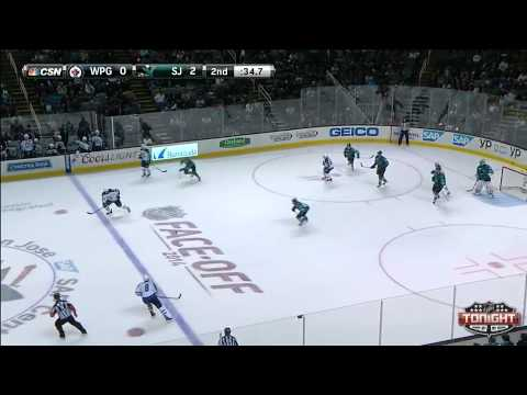 San Jose Sharks vs. Winnepeg Jets Highlights Oct. 11 2014-15 Season!