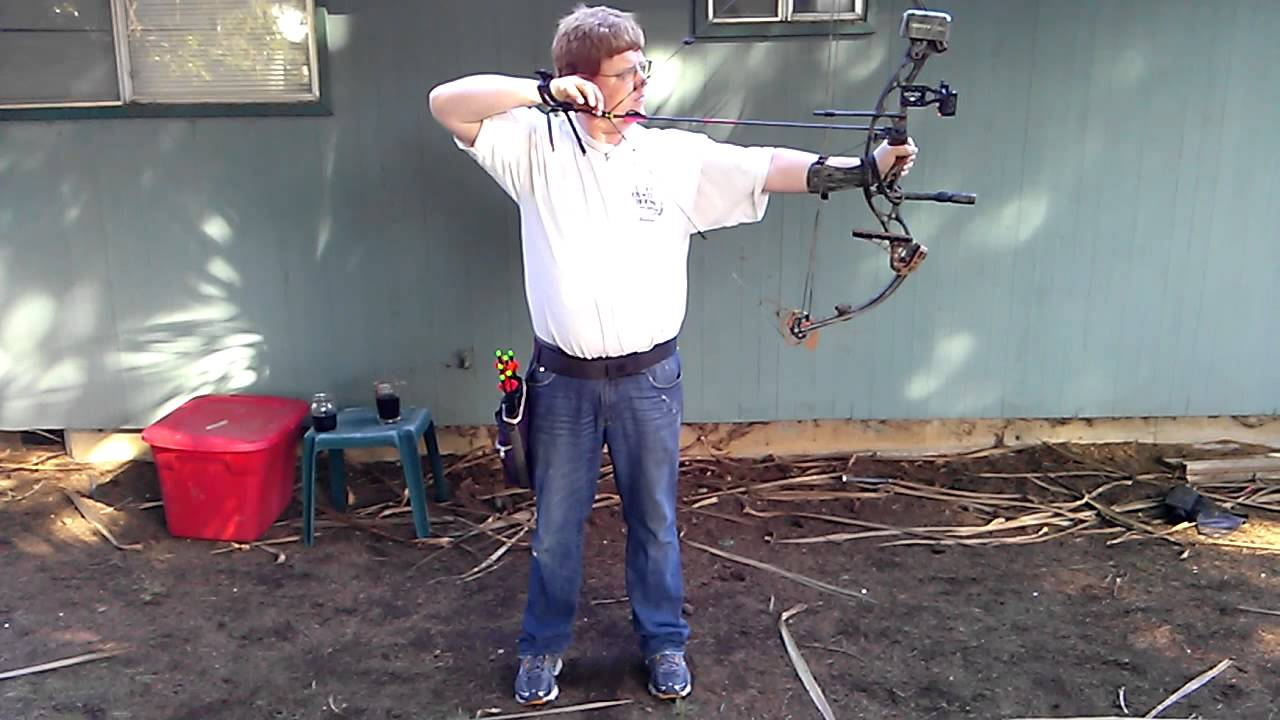Beginner Compound Bow Shooting Hoyt Xt 2000 Bow C Youtube