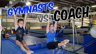 Gymnasts vs Coach - Gymnastics Competition| Rachel Marie