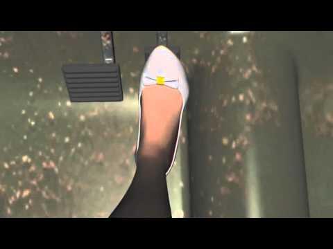 Girl breakdown cranking very old car in grey high heels (The U.F.O. remix)