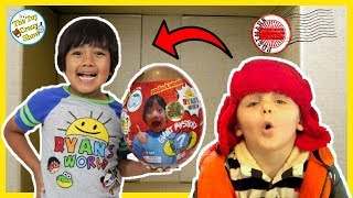 I MAILED MYSELF TO RYAN TOYSREVIEW to get a Ryan's World Golden Mystery Egg, It Worked! Toy Skit
