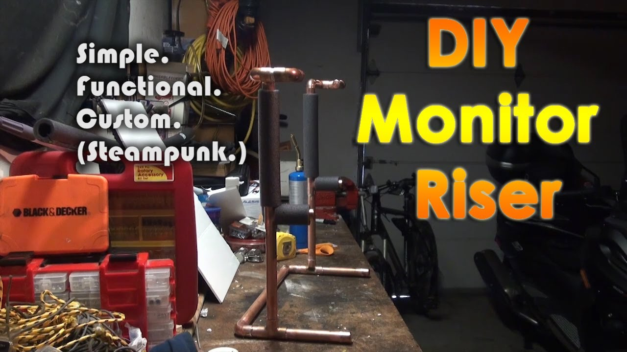 Diy Custom Steampunk Monitor Riser Stand Youtube