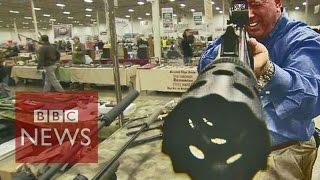 Guns for sale - inside an American gun show - BBC News