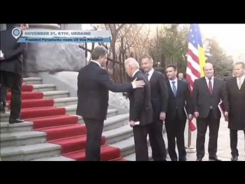 President Poroshenko Meets US Vice President: Biden in Ukraine to mark anniversary of Euromaidan
