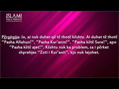 """Dispozita e të betuarit me """"Pasha Zotin e Kur'anit"""" – Shejh Feuzan"""