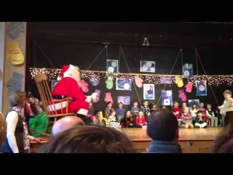Aaden - Santa at Pilgrim School - 05/08/2014