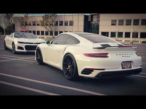 Что круче: 911 Turbo S за 15млн или Camaro ZL1 за 3.5млн руб? Битва 700лс против 650лс.