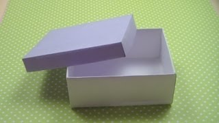 Easy Origami Box Instructions  How to make a Simple