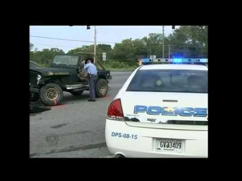 Jeeps Collide in LaFayette, Stopped by a Georgia State Patrol Car.. literally.