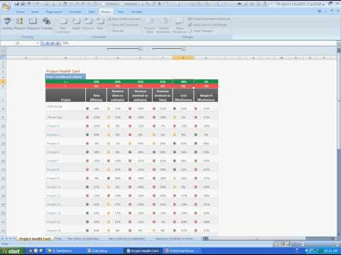 Manage Project Resources and Profits - Project Health Card