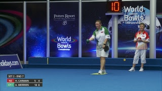 Just. 2019 World Indoor Bowls Championships Day 9 Session 2