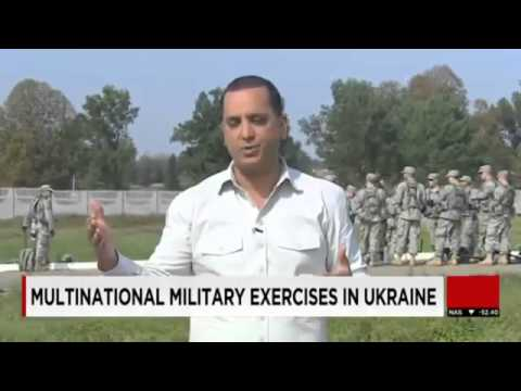 World War 3  US and NATO Troops begin Rapid Trident Military Exercises in Ukraine Sept 2014