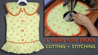 Stylish Top Baby Girl Frock Cutting And Stitching Step By Step