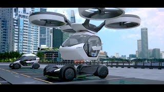 Airbus Group & Italdesign - Pop.Up Modular VTOL Flying Car Concept [1080p]