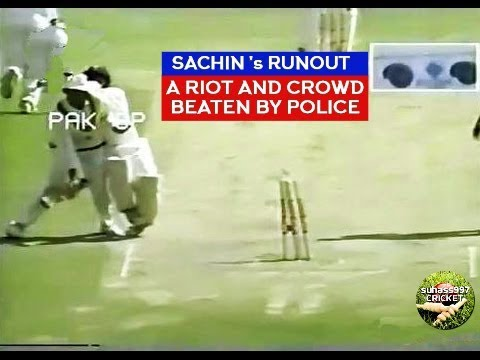 SACHIN TENDULKAR - THE RUNOUT THAT TRIGGERED A HUGE RIOT!