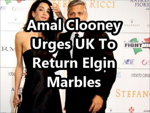 Amal Clooney Urges UK To Return Elgin Marbles