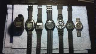Syncing seven watches Casio Seiko Luminox Tag heuer Swiss Army