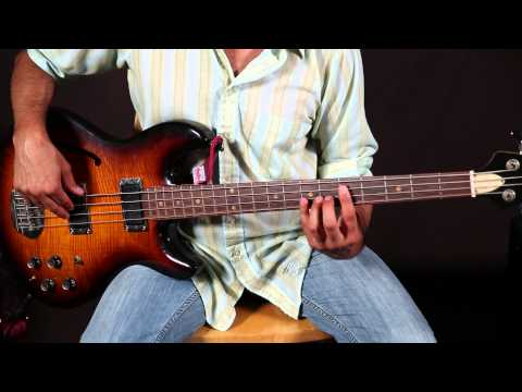 Bass Lessons - Basic 12 Bar Blues For Bass Guitar - Easy Basslines video