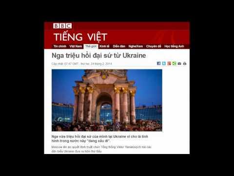 24.02.2014 - BBC Vietnamese - Nga triệu hồi đại sứ từ Ukraine