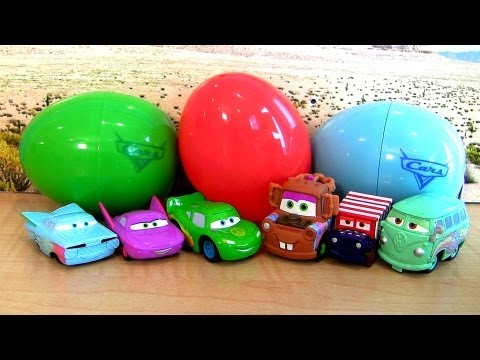 Disney CARS Easter Eggs Holiday Edition Lightning McQueen Mater Mini Adventures Surprise Disney 2013