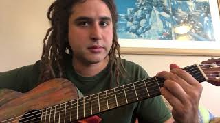 Beginner Spanish guitar song lesson.  Very easy and sounds cool!