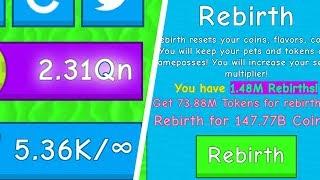 1 MILLION REBIRTHS!? Ice Cream Simulator