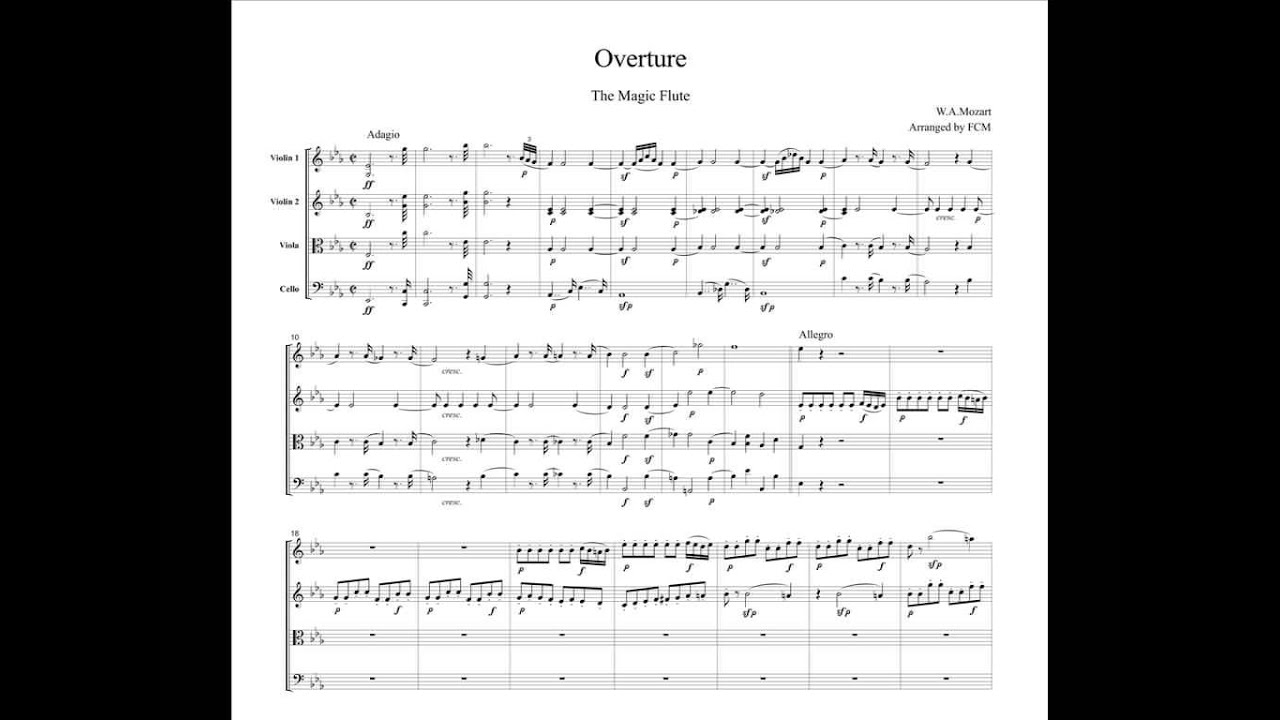 overture to the magic flute by