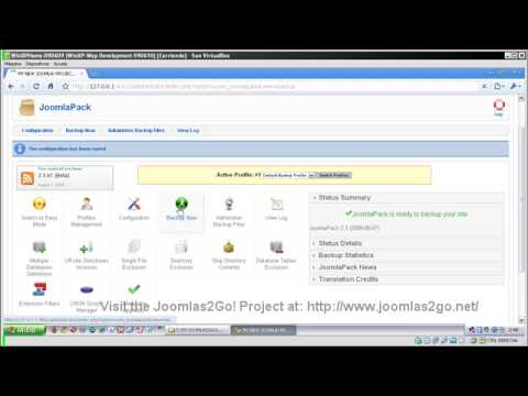 3 - Joomlas2Go! - Export your Joomla! Project with JoomlaPack Component