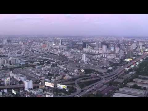 BANGKOK CITY 360° from Baiyoke Sky Hotel , 84th floor (HD)