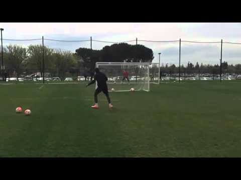 Two goals: Chelsea legend Didier Drogba scores a brilliant free-kick at Montreal Impact training