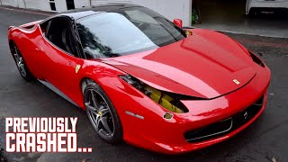 My WRECKED Ferrari 458 is a Car Again!!!!!