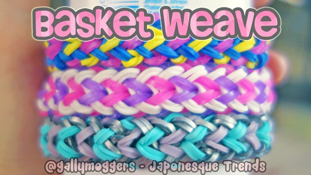How To Make A Small Basket Weave Loom Bracelet : Rainbow loom tutorial basket weave bracelet with one