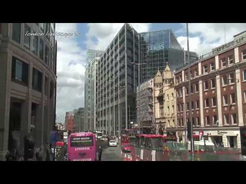 Bus Ride through the City of London (HD)