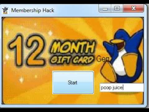 Club Penguin 12 Month Membership Hack *WORKING* August 2012!