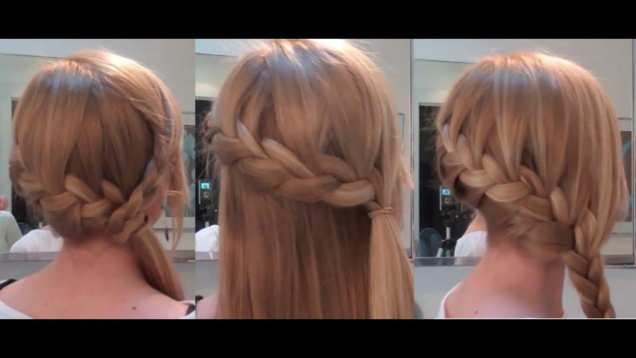 Прически на длинные волосы на каждый день в школу