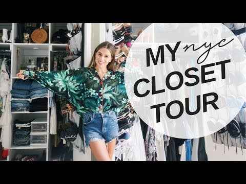 My High-Rise NYC Closet Tour | TIPS on How to Organize for Small Closets