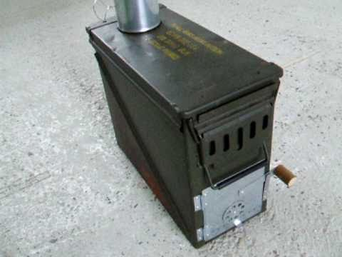 Ammo Box Wood Stove 2 YouTube