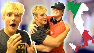 I FLEW TO ITALY TO SURPRISE MY BROTHER!