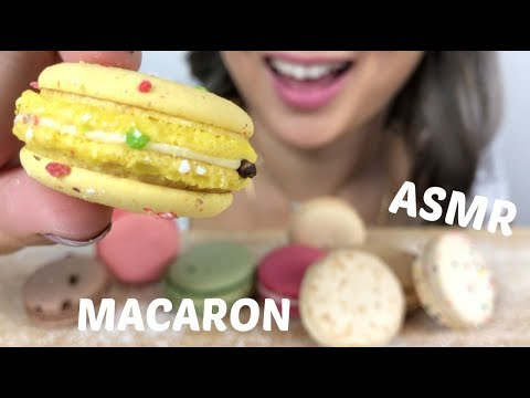 Macaron | ASMR *NO Talking Eating Sounds | N.E Let's Eat